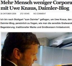 Daimler Blog, Uwe Knaus, Miss Creative Classy